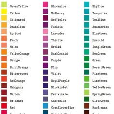 Names of colours Color Mixing Chart, Color Combos, Color Names Chart, Names Of Colors, Pantone Color Chart, Color Palette Challenge, Colors And Emotions, Color Meanings, Colour Pallette