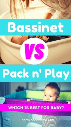 Is it better to have a bassinet or a pack n' play for your newborn to sleep in? Here's a handy pros and cons list of everything you need to know before you add either of them to your baby registry! Pros And Cons List, Pack N Play, Baby Must Haves, Toy Organization, Playroom Decor, Mom Hacks, Baby Registry, Mom Blogs, Baby Products