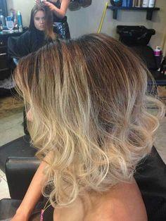 Romantic Blonde Ombre Hair