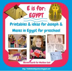 Preschool Alphabet: E is For Egypt