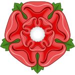 "The name ""Wars of the Roses"" refers to the Heraldic badges associated with the two royal houses, the White Rose of York and the Red Rose of Lancaster."