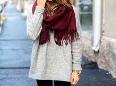 chunky sweater & a scarf.....