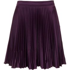 TOPSHOP Concertina Pleat Skirt (£10) ❤ liked on Polyvore featuring skirts, bottoms, aubergine, purple pleated skirt, knee length pleated skirt, topshop skirts, purple skirt and pleated skirt