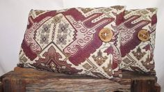 Pillow Cover 14x20 Ikat Mexican Rush Berry Crush by whiteoakroom, $48.00