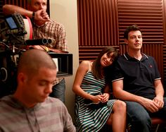 Cory and Lea behind the scene of glee :')