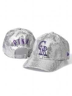 PINKColorado Rockies Bling Baseball Hat - Super cute but I'm not sure how much people sitting around me will appreciate getting blinded haha
