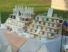 soap display at a craft fair