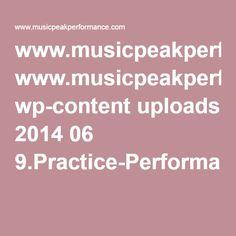 Practice v. Performance mindsets