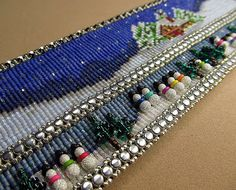 Beads Beading Beaded, with Erin Simonetti: Bead Loom Woven Winter! Bead Loom Bracelets, Woven Bracelets, Seed Bead Patterns, Beading Patterns, Beading Ideas, Tear, Christmas Jewelry, Beads And Wire, Loom Beading
