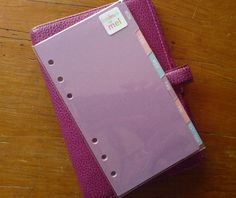 FILOFAX PERSONAL/Kikki K Med Compatible Daily DIVIDERS Pearlescent Pastel #190