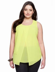 Overlay Tank from eloquii.com