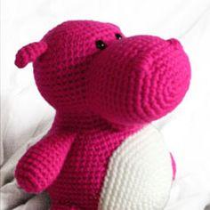 Hilda the Hio by Footloose Friend crochet pattern $3.50 on Amigurumipatterns.net at http://www.amigurumipatterns.net/shop/Footloosefriend/Hilda-the-hippo/