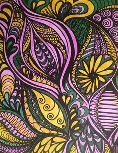 ColorIt Calming Doodles Volume 1 Colorist: Deb Meyer #adultcoloring #coloringforadults #doodle #coloringpages