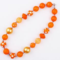 2pcs/Lot fashion 2016 DIY gift for baby orange latest girl chunky beads necklace kids bubblegum necklace retail-in Necklaces & Pendants from Jewelry & Accessories on Aliexpress.com | Alibaba Group