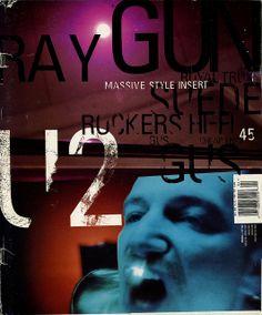 on the cover of Ray Gun magazine 1997 David Carson Design, Magazine Design Inspiration, Design Magazine, Branding, Magazine Articles, Art Graphique, Creative Portraits, Graphic Design Illustration, Graphic Art