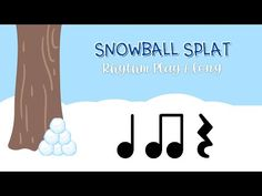 Snowball Splat Rhythm Play Along - Quarter Notes, Eighth Notes, Quarter Rests - YouTube Online Music Lessons, Elementary Music Lessons, Music Lessons For Kids, Music Lesson Plans, Drum Lessons, Preschool Music, Music Activities, Teaching Music, Music For Toddlers