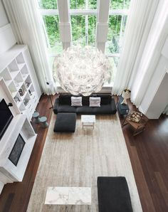 living room via @Freshome...those windows!