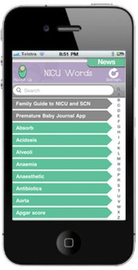 NICU Words - an app created by Life's Little Treasures Foundation, an Australian Charity that supports families of premature or sick babies.