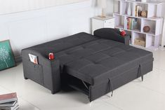 Best Quality Furniture Dark Gray woven Fabric Sofa Bed * Want additional info? Click on the image. (This is an affiliate link) #Futon