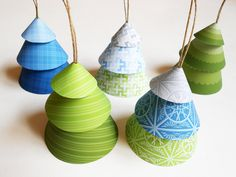 Printable DIY Build-A-Tree Paper Ornaments. $3.50, via Etsy.