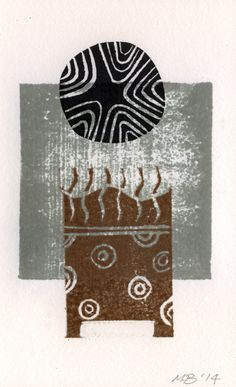 The Old Cells Studio - Michèle Brown Art: Four small monotypes - lino and woodcut