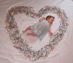 Serce ze strzykawek do in vitro.  Symbol drogi do macierzyństwa