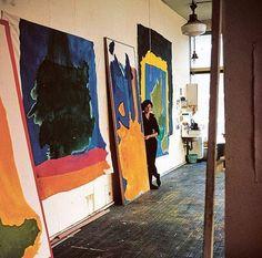 Helen Frankenthaler, Abstract Expressionism, Abstract Art, Online Art Courses, Painters Studio, Beautiful Paintings, Art Studios, Lovers Art, Design Art