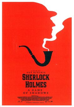 Sherlock Holmes Poster by Olly Moss I love how this design combines the smoke from the pipe with the Sherlock silhouette! Event Poster Design, Graphic Design Posters, Graphic Design Illustration, Graphic Design Inspiration, Typography Design, Lettering, Graphic Art, Graphisches Design, Buch Design