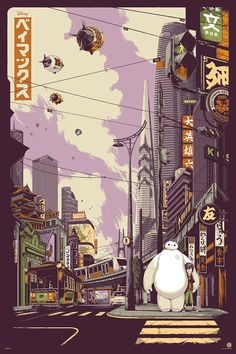 Mondo X Cyclops Print Works Print : Big Hero 6 (Variant) by Ken Taylor Expo Disney, Disney Shows, Disney Art, Disney Magic, Big Hero 6, Omg Posters, Online Posters, Film Posters, Illustration Photo