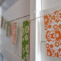 Orange and Green Vintage Paper Bunting - 3m length  by Made to Make