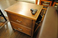 Awesome Nightstand Gun Safe With 2 Drawer Storage
