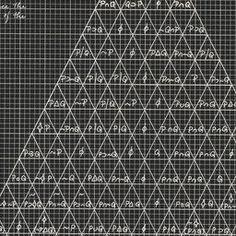 Agnes Denes. The Human Argument (Dialectic Triangulation: Symbolic Logic #1). 1970 | MoMA