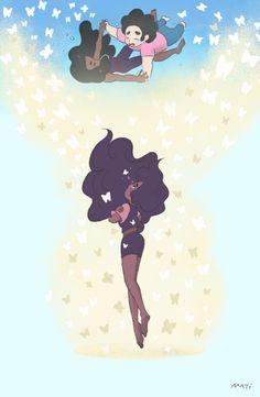 Steven + Connie Stevonnie Fusion I Steven Universe Cartoon Network, Connie Steven Universe, Steven Universe Stevonnie, Connie Stevens, Lapidot, Universe Art, Animation, Cosplay, Gravity Falls