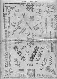 crazy stitches -  http://qisforquilter.com/2010/02/ladies-art-company-quilt-pattern-book-1922/