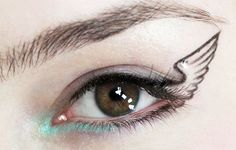 Wing eyeliner - LOVE! Video tutorial here http://www.youtube.com/watch?feature=player_embedded=GC0lavl72ZU#! #halloween #makeup #idea