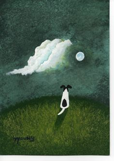 Smooth Fox Terrier Dog by Todd Young. I want this!