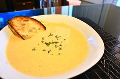 Roasted Cauliflower and Aged White Cheddar Soup.... possibly one of ...