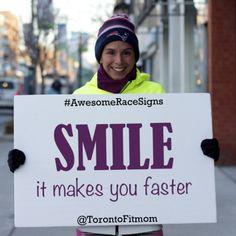 Motivational Marathon Sign Says Awesome: The 26 Best Marathon Signs | Shape Magazine