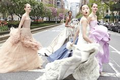 Cass Bird captured models wearing ball gowns inspired by the MET Gala's Charles James exhibit