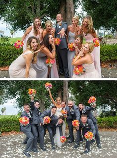 21 Creative Wedding Photo Ideas with Bridesmaids and Groomsmen - Cool Wedding Photography - hochzeit Wedding Photoshoot, Wedding Shoot, Dream Wedding, Trendy Wedding, Wedding Rings, Wedding Venues, Wedding Dresses, Fall Wedding, Diy Wedding