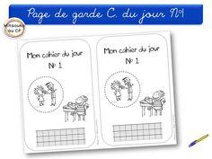 20 pages de garde pour les petits CP - dessins naïfs à colorier pour des pages personnalisées !