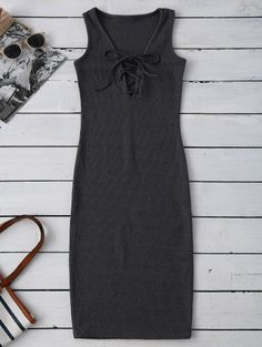 GET $50 NOW | Join Zaful: Get YOUR $50 NOW!http://m.zaful.com/lace-up-ribbed-bodycon-dress-p_267442.html?seid=3186235zf267442