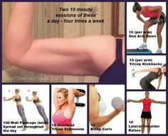 Arm workout - for when I can start working on myself again!