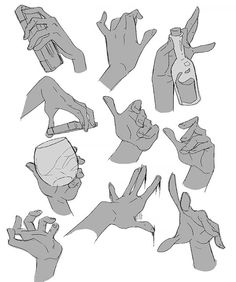 Drawing Anatomy Reference How to draw hands - Human anatomy - drawing reference Hand Drawing Reference, Art Reference Poses, Anatomy Reference, Kissing Reference, Body Reference, Character Reference, Character Art, Art Poses, Drawing Poses