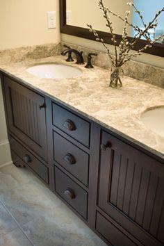 Dark Bathroom Cabinets Design, Pictures, Remodel, Decor and Ideas – page 3 - Modern Dark Cabinets Bathroom, Dark Bathrooms, Small Bathroom, Master Bathroom, Bathroom Kids, Kitchen Cabinets, Navy Bathroom, Granite Bathroom, Silver Bathroom