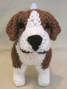 Your place to buy and sell all things handmade Crochet Dog Patterns, Amigurumi Patterns, Crochet Ideas, Knitting Projects, Crochet Projects, Half Double Crochet Decrease, Embroidery Stitches Tutorial, Dog Crafts, Crochet For Beginners