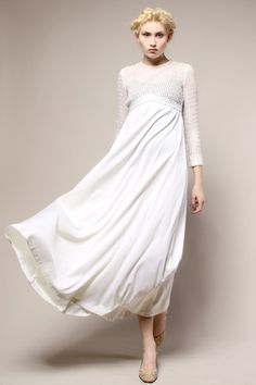 Shop Vintage | 70s Pat Richards White Sequin Maxi Dress | Thrifted & Modern ($100-200) - Svpply