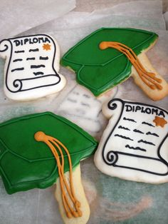 Baylor graduation cookies