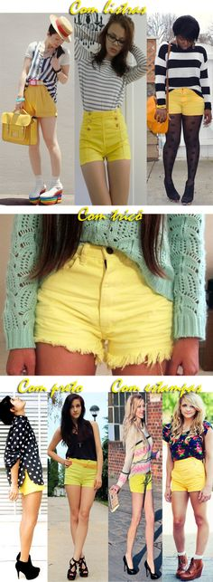 Yellow shorts - ideas