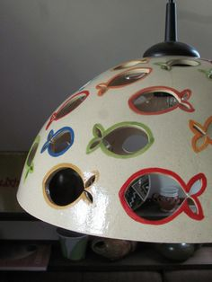 Ceramic Light Chandelier Fish Fishes Colours Jesus by BohemiaMade